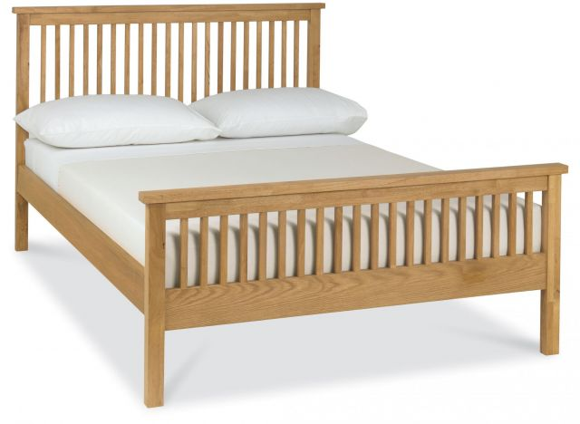 Chester Oak 135cm High Footend Bedstead