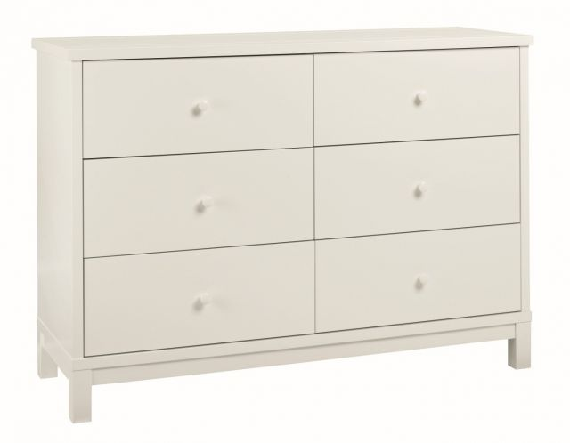 Chester White 6 Drawer Wide Chest