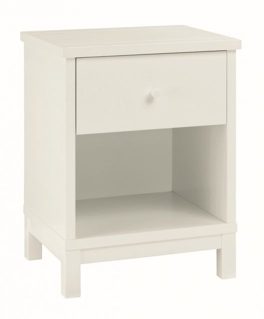 Chester White 1 Drawer Nightstand