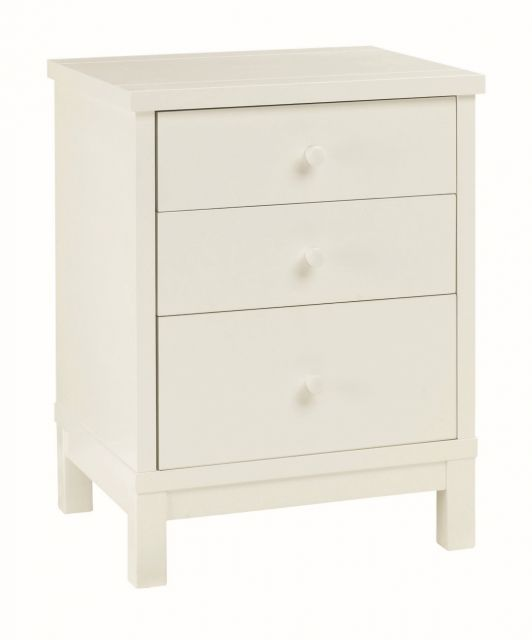 Chester White 3 Drawer Nightstand