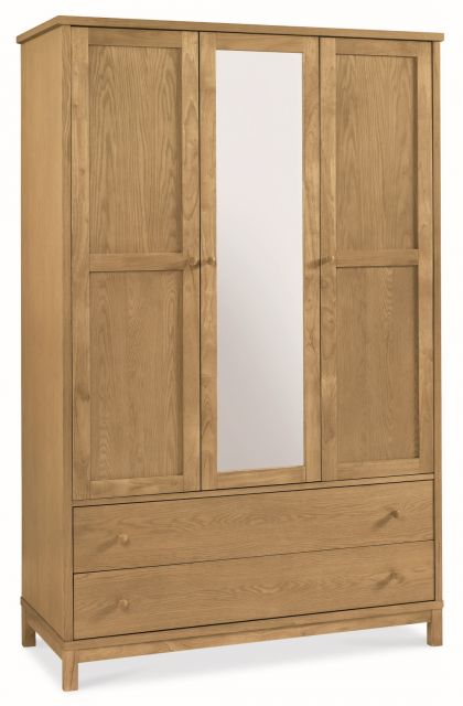 Chester Oak Triple Wardrobe
