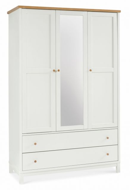 Chester Two Tone Triple Wardrobe