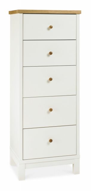 Chester Two Tone 5 Drawer Tall Chest