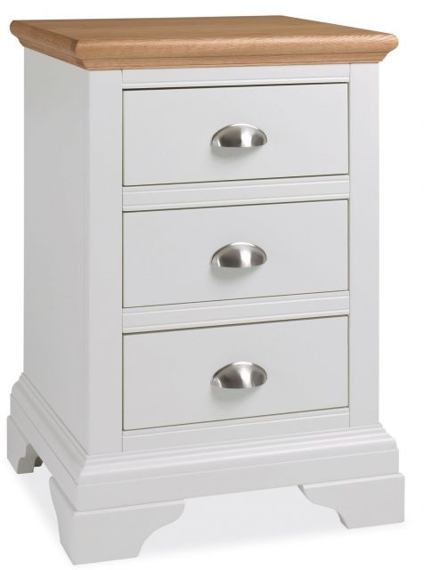 Fairford Two Tone 3 Drawer Nightstand