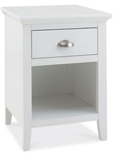 Fairford White 1 Drawer Nightstand