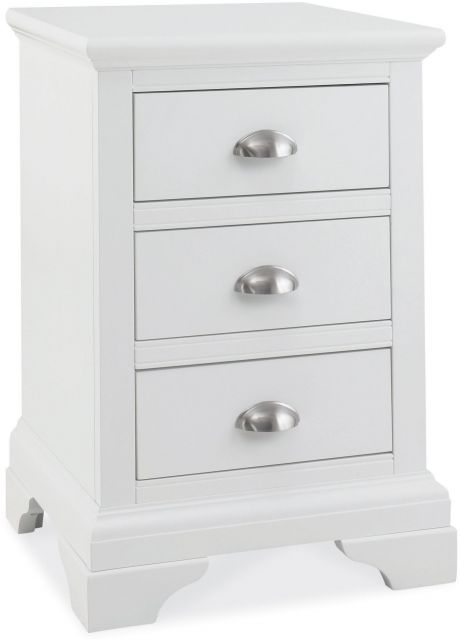 Fairford White 3 Drawer Nightstand
