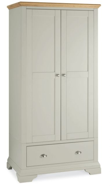 Fairford Soft Grey & Pale Oak Double Wardrobe