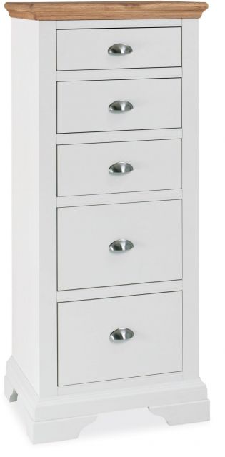 Fairford Two Tone 5 Drawer Tall Chest