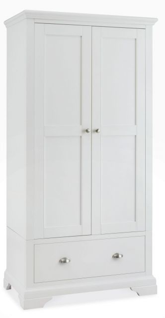 Fairford White Double Wardrobe