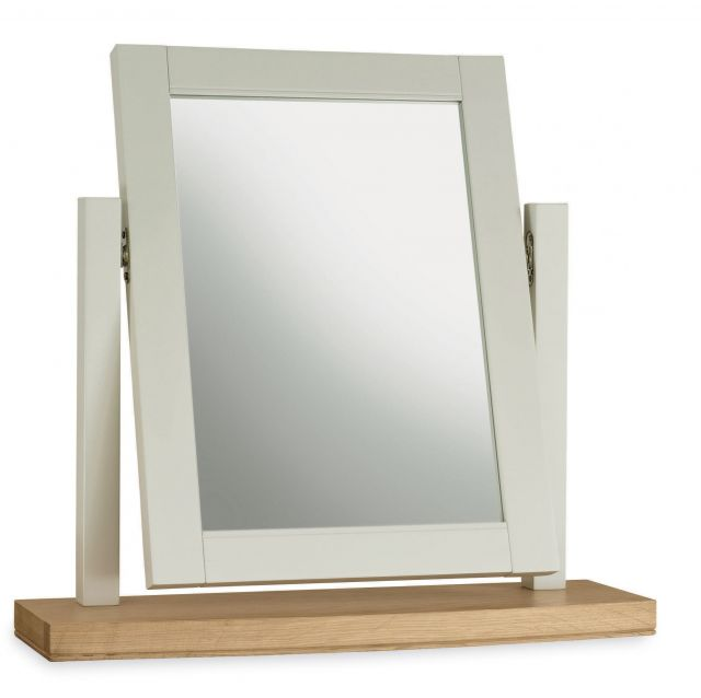 Fairford Soft Grey & Pale Oak Vanity Mirror