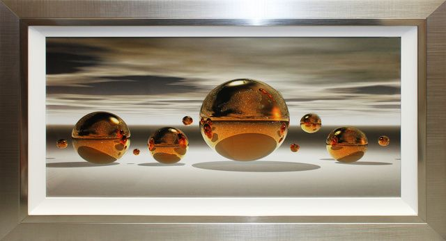 Golden Sphere Liquid Art