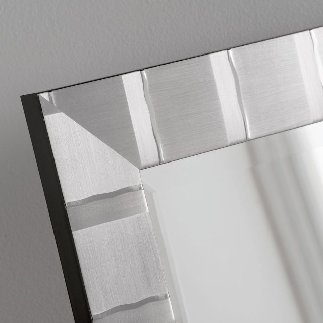 "4"" Manhattan Silver 51"" X 42"" Bevel (130cm X 107cm) Mirror"