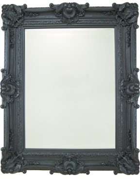 "Buckingham Grand Black 88"" X 56"" Bevel (224cm X 142cm) Mirror"