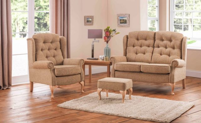 Woburn Standard Legged Fixed 2 Seater Fabric
