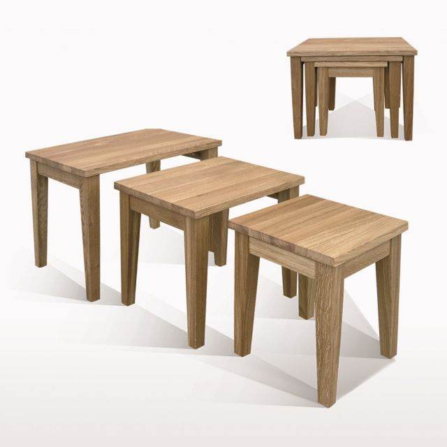 Windsor Dining Nest of three tables (W55xD39xH46)