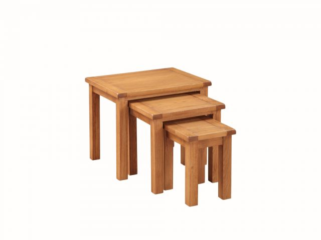 Essentials Country Oak Nest of Tables