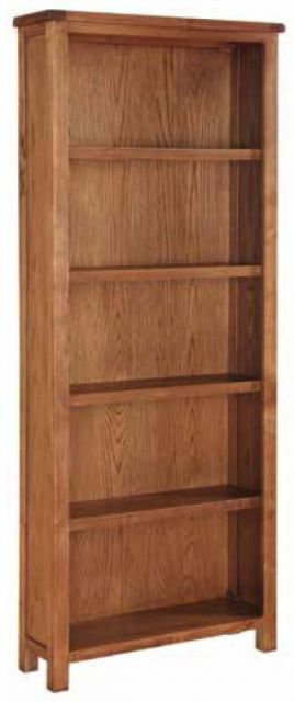 Essentials Country Oak Tall Bookcase