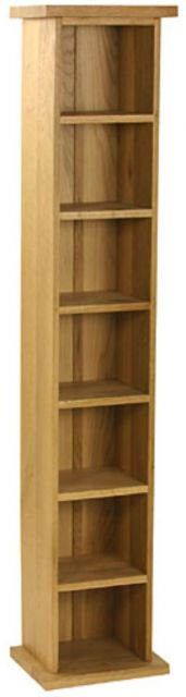 Oak Occassional Single Cd Tower