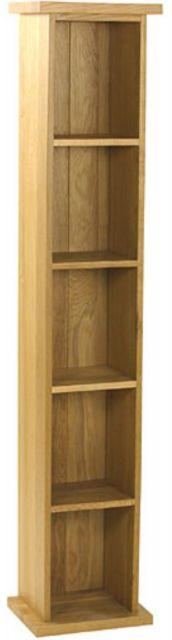 Oak Occassional Single Dvd Tower