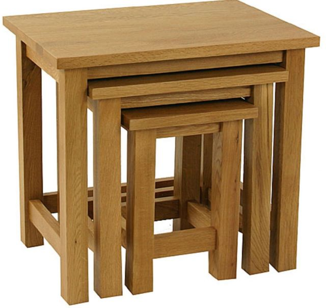 Oak Occassional Nest Of Tables