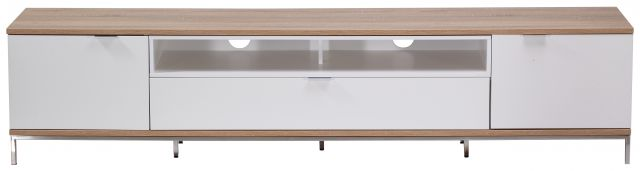 Chaplin Cabinet 2000 White and Light Oak