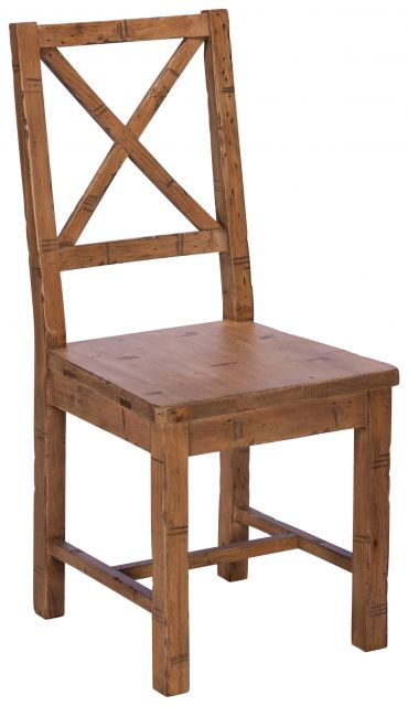 Hardware - Cross Back Chair Wood Seat
