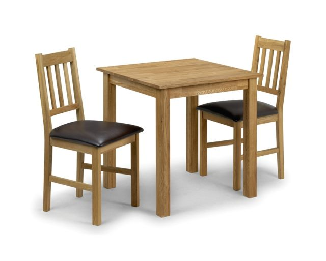Coxmoor Dining Square Table & 2 Chairs Solid American White Oak