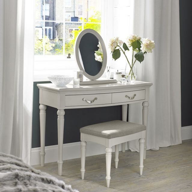 Chateau Painted - Vanity Mirror  Soft Grey Finish