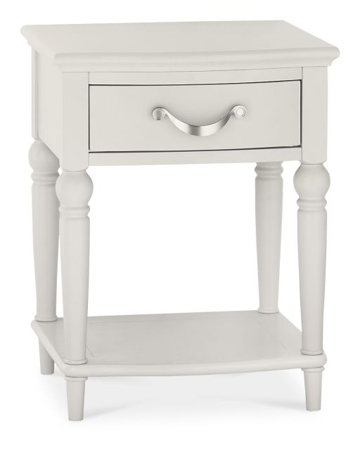 Chateau Painted - 1 Drawer Nightstand  Soft Grey Finish