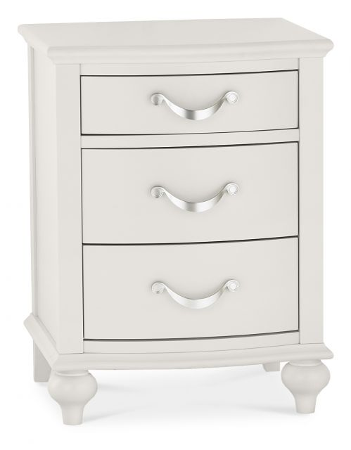 Chateau Painted - 3 Drawer Nightstand  Soft Grey Finish