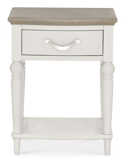 Chateau Two Tone - 1 Drawer Nightstand  Grey Washed Oak & Soft Grey Finish