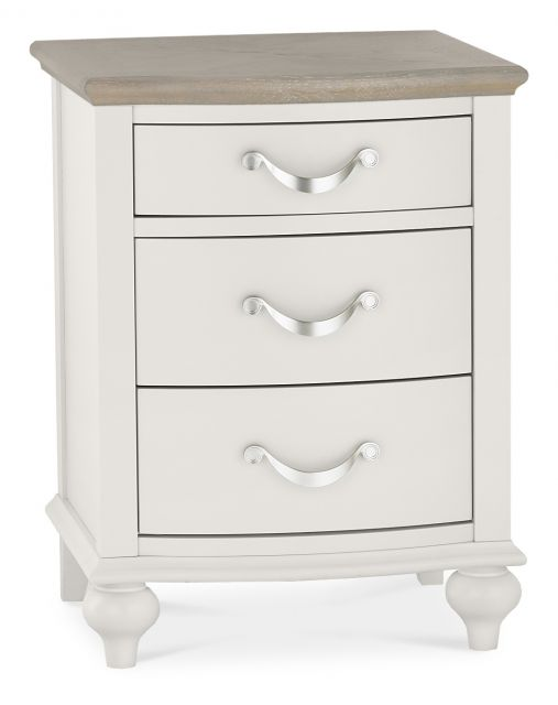 Chateau Two Tone - 3 Drawer Nightstand  Grey Washed Oak & Soft Grey Finish