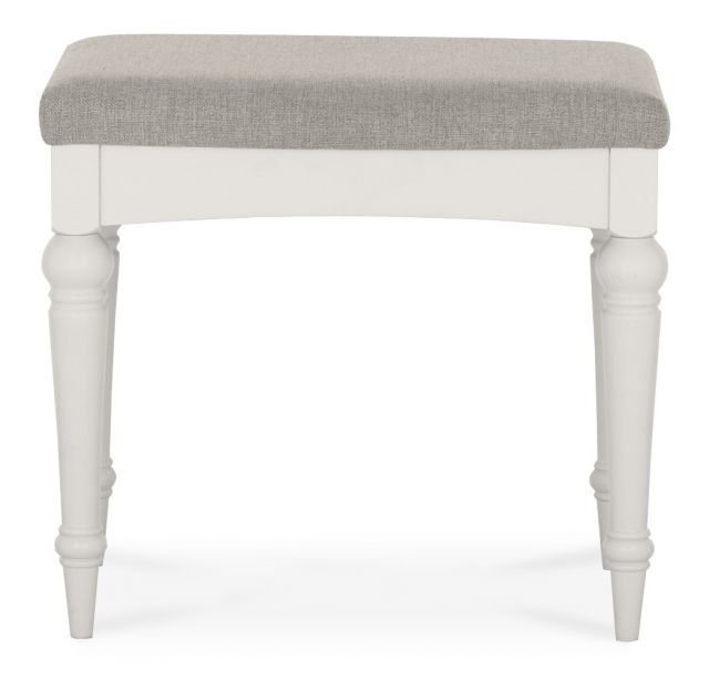 Chateau Two Tone - Dressing Table Stool  Grey Washed Oak & Soft Grey Finish