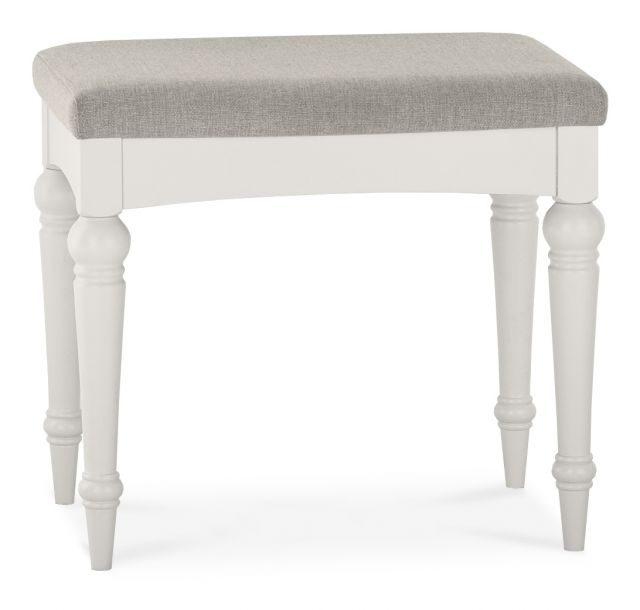 Chateau Painted - Dressing Table Stool  Soft Grey Finish