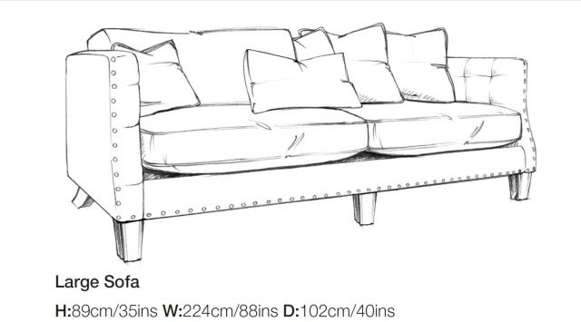 Balmoral - Large Sofa A Grade Fabric
