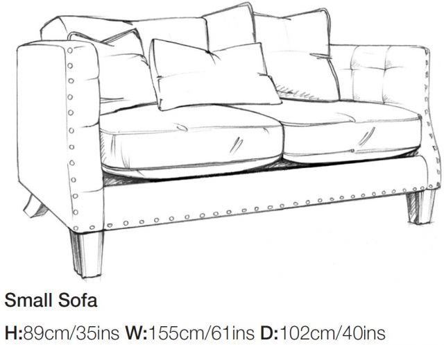 Balmoral - Small Sofa A Grade Fabric