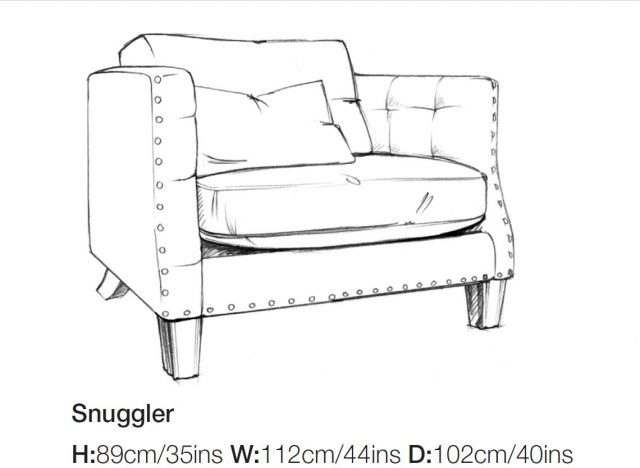 Balmoral - Snuggler Chair A Grade Fabric