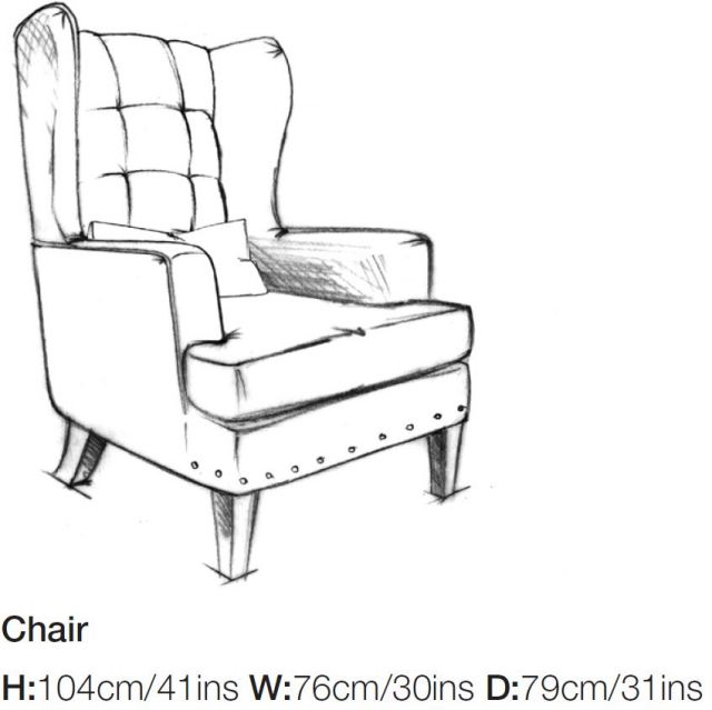 Balmoral - Wing Chair A Grade Fabric