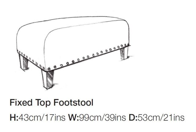 Balmoral - Fixed Top Footstool A Grade Fabric