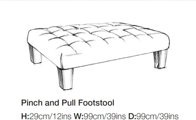 Balmoral - Pinch & Pull Footstool A Grade Fabric