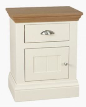 Coelo Oak Top Bedroom Small 1 Door/Drawer Bedside (L/H Hinged)