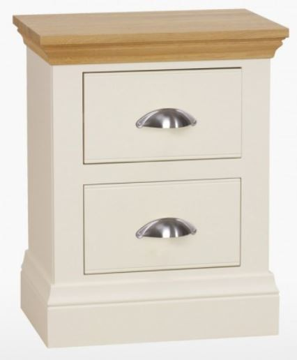 Coelo Oak Top Bedroom Small 2 Drawer Bedside