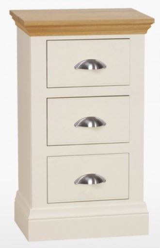 Coelo Oak Top Bedroom Small 3 Drawer Bedside