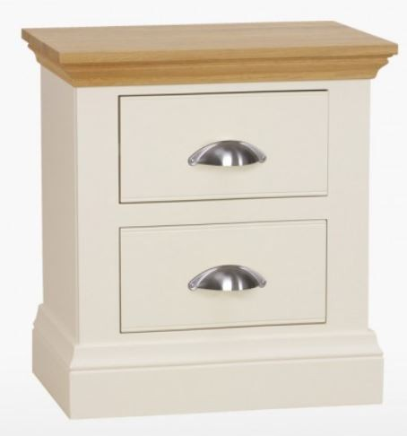Coelo Oak Top Bedroom Large 2 Drawer Bedside