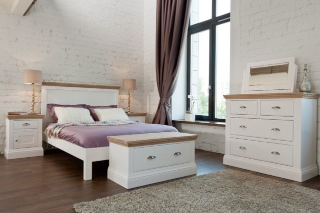 Coelo Oak Top Bedroom Double Panel Headboard