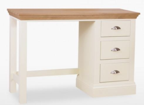 Coelo Oak Top Bedroom Single Pedestal Dressing Table