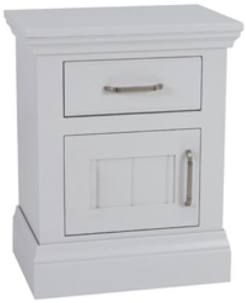 Coelo Full Painted Small 1 Door/Drawer Bedside (L/H Hinged)