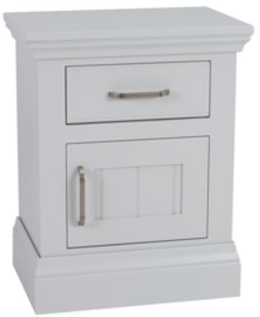 Coelo Full Painted Small 1 Door/Drawer Bedside (R/H Hinged)