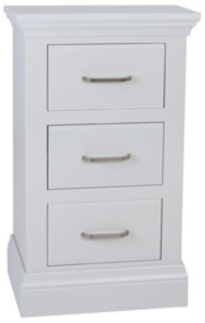 Coelo Full Painted Small 3 Drawer Bedside