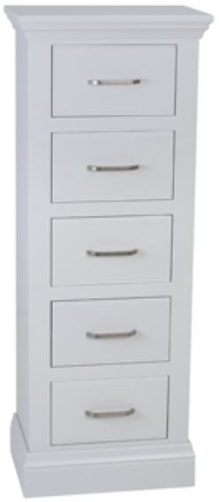 Coelo Full Painted 5 Drawer Narrow Chest